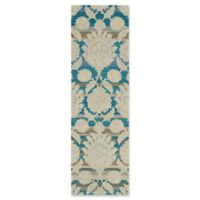 Nourison India House 2'3 x 7'6 Handcrafted Runner in Blue