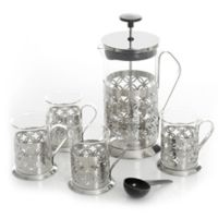 Mr. Coffee® Trellise 5-Piece Coffee Press Set in Stainless Steel