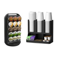 Mind Reader K-Cup® Carousel and Condiment Organizer in Black