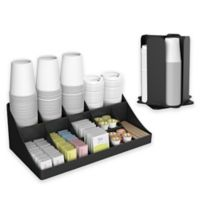 Mind Reader Condiment and Cup Organizer in Black
