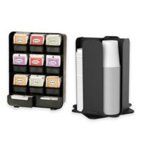 Mind Reader Tea Bag & Condiment Caddy and Cup Organizer in Black