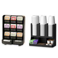 Mind Reader Tea and Coffee Condiment Organizer in Black