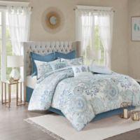 Madison Park Isla Reversible King Comforter Set in Blue