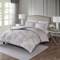 Madison Park Marian King/California King Comforter Set in Grey