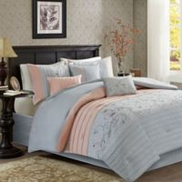 Madison Park Serene 7-Piece King Comforter Set in Blush