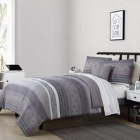 VCNY Home Casper 4-Piece Full/Queen Comforter Set in Grey