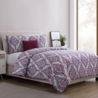 VCNY Home Lyndon 3-Piece Twin XL Duvet Cover Set in Purple