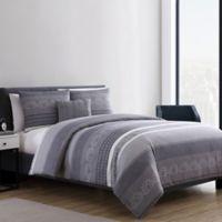 VCNY Home Casper 3-Piece Twin XL Duvet Cover Set in Grey