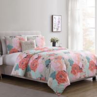 VCNY Jodi Floral Twin XL Duvet Cover Set in Tan