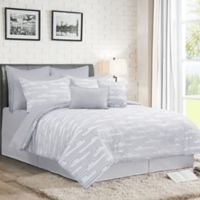 Darin 12-Piece King Comforter Set in Grey