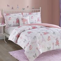Pretty Parris 4-Piece King Comforter Set in Lavender