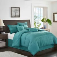 Karolina 6-Piece California King Comforter Set in Teal