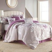 Zalina 7-Piece King Comforter Set in Lavender