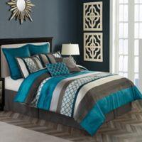Avalon 8-Piece California King Comforter Set in Peacock