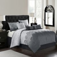 Harwick 7-Piece Queen Comforter Set in Grey