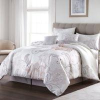 Lucinda Lace 7-Piece California King Comforter Set in White