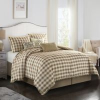 Eton 7-Piece Queen Comforter Set in Sand
