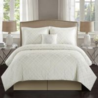 Talulah 5-Piece California King Comforter Set in Antique White