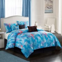 Abella 7-Piece King Comforter Set in Blue