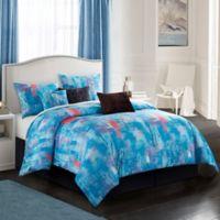 Abella 7-Piece Queen Comforter Set in Blue