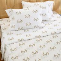 Realtree® Antler Twin Sheet Set in White