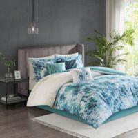 Madison Park Enza 7-Piece Queen Comforter Set in Teal