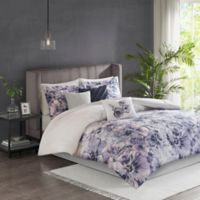 Madison Park Enza King/California King Duvet Cover Set in Purple