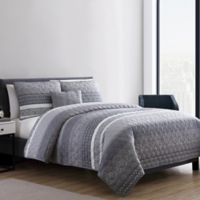VCNY Home Casper 4-Piece Full/Queen Quilt Set in Grey