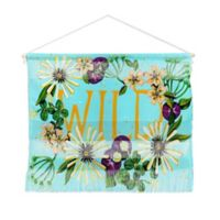 Deny Designs Land Of Lulu Wildflower Landscape 16-Inch x 22-Inch Hanging Wall Art in Blue