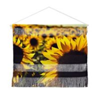Deny Designs Olivia St Claire Sunflower Landscape 16-Inch x 22-Inch Hanging Wall Art in Brown