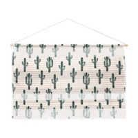 Deny Designs Little Arrow Modern Jungle Cactus Landscape 32-Inch x 47-Inch Wall Hanging