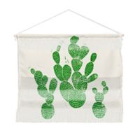 Deny Designs Bianca Green 16-Inch x 22-Inch Linocut Cacti Family Landscape Wall Hang