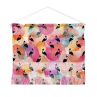 Deny Designs 16-Inch x 22-Inch Hello Sayang Dance Like A Flamingo Landscape Wall Hanging