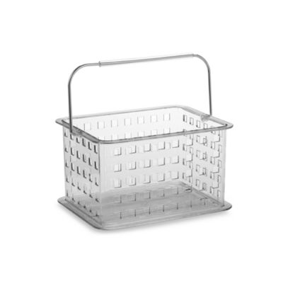 Ordinaire Interdesign® Zia Clear Small Clear Storage Basket Shower Tote