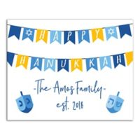 "Designs Direct ""Happy Hanukkah"" Banner 20-Inch x 16-Inch Canvas Wall Art"