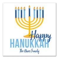 "Designs Direct ""Happy Hanukkah"" Menorah 16-Inch Square Canvas Wall Art"