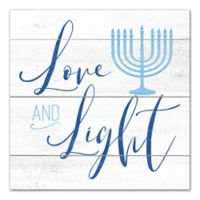 """Designs Direct """"Love and Light"""" 16-Inch Square Canvas Wall Art"""