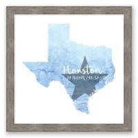 Houston, Texas Coordinates Framed Wall Art