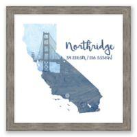 Northridge, California Coordinates Framed Wall Art