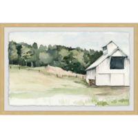 Marmont Hill Watercolor Barn III 36-Inch x 24-Inch Framed Wall Art