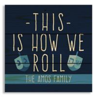 Designs Direct This Is How We Roll 10.6-Inch Square Pallet Wood Wall Art