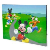Disney® 15.75-Inch x 11.5-Inch LED Canvas Wall Art in Green