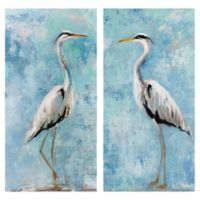 Heron I & II 12-Inch x 24-Inch Canvas Wall Art (Set of 2)