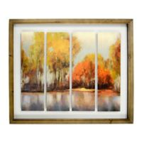 Fall Landscape 21-Inch x 25-Inch Wood Wall Art