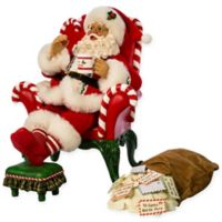 10-Inch Fabriche Musical Santa with Bag Figurine