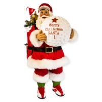 Kurt Adler 11-Inch Fabriché™ Golf Santa with Ball and Bag Figurine in Red