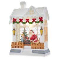 Kurt Adler LED Santa in Christmas House