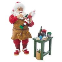 Kurt Adler 10.5-Inch Fabriche™ Nutcracker Workshop Santa with Workbench Figurine
