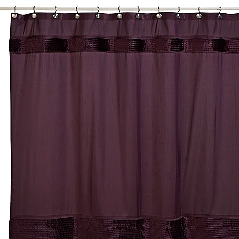 Willow 72 Inch X 72 Inch Fabric Shower Curtain In Plum
