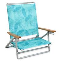 5-Position Beach Chair in Blue